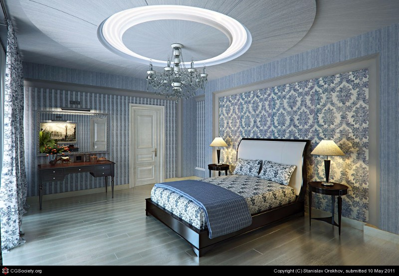 bedroom design Bedroom Designs by Top Interior Designers: Stanislav Orekhov soothing blue bedroom design by stanislav orekhov modern bedroom ideas master bedroom design