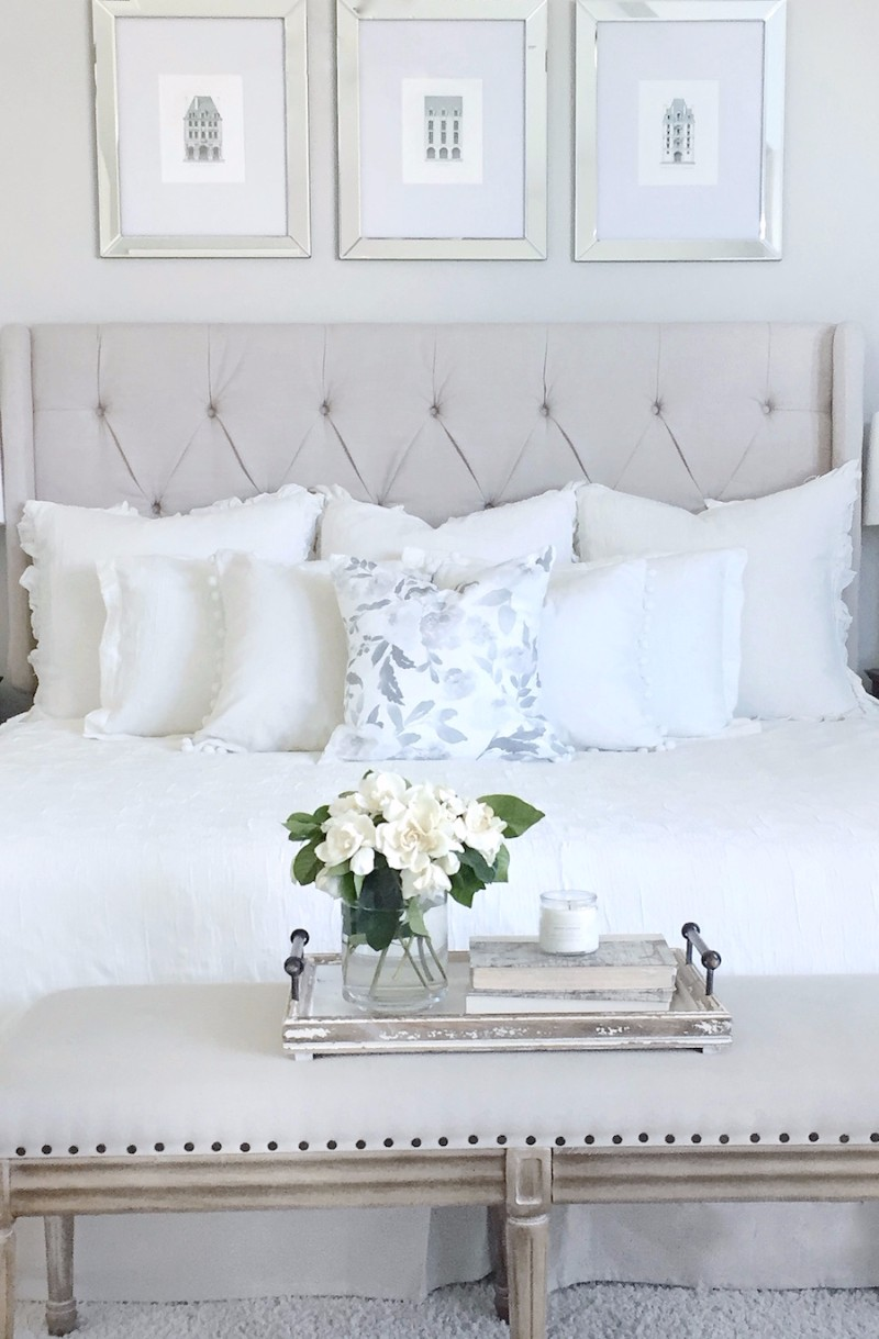all white bedroom 10 Calm and Charming All White Bedrooms white bedroom design ideas modern master bedroom decor bedroom inspiration white bedroom design 1