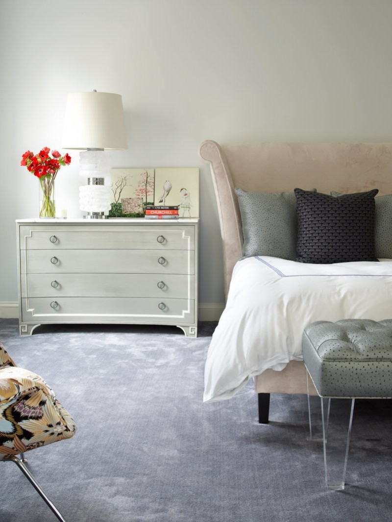 one night stand One Night Stand Ideas for Subtle Master Bedrooms Beautiful headboard in Upper East Side by Fawn Galli
