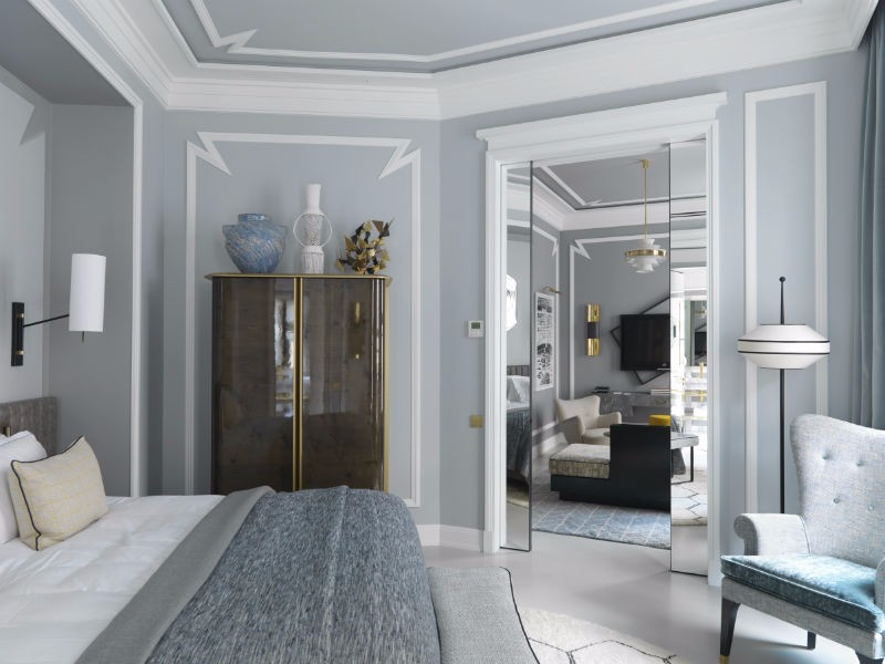 bedroom design Bedroom Designs by Top Interior Designers: Jean-Louis Deniot Blue toned bedroom by jean louis deniot