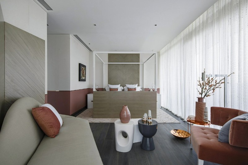 neutral bedroom 10 Smooth Neutral Bedrooms by Famous Interior Designers Charming Contemporary Bedroom in China by Kelly Hoppen Interiors 1