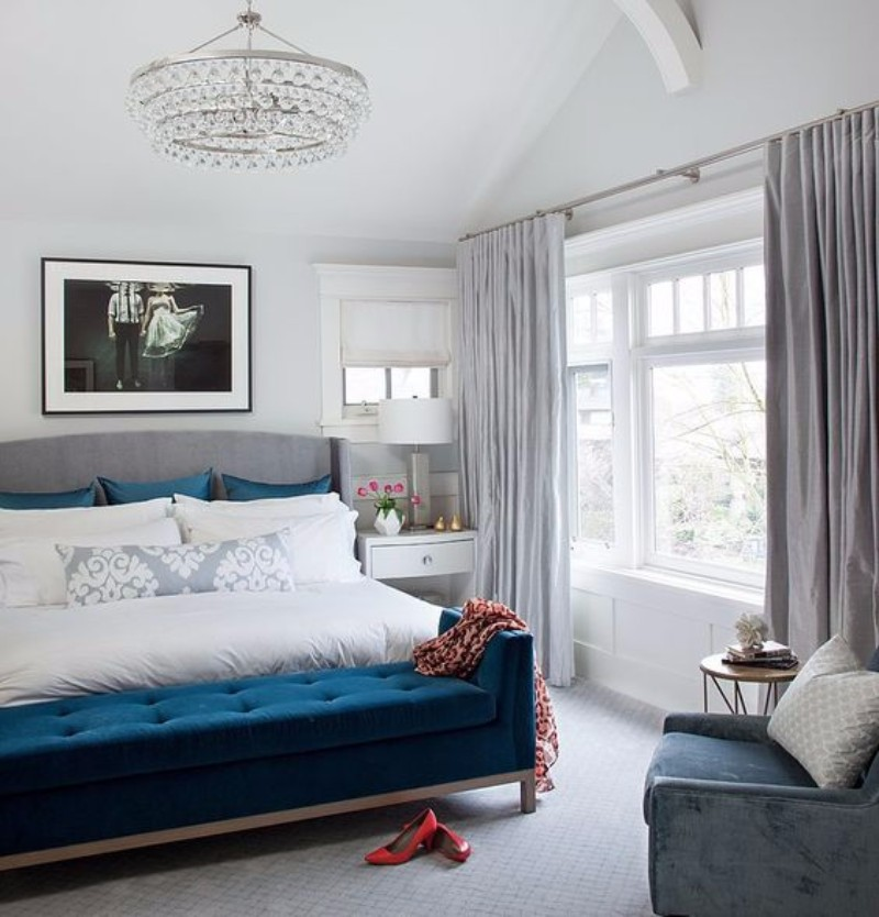 master bedroom 10 Magnificent Upholstered Master Bedroom Benches Charming bedroom perfection