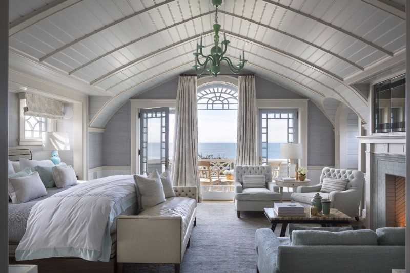 neutral bedroom 10 Smooth Neutral Bedrooms by Famous Interior Designers Coastal Bedroom design by Robert A