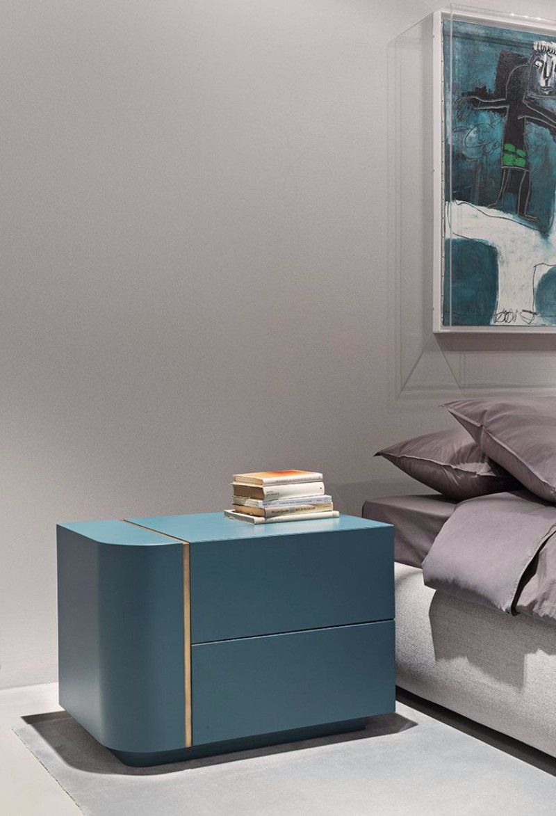 modern nightstand Top 15 Modern Nightstands Found on Pinterest DIMITRI by Andrea Parisio MERIDIANI contemporary nightstand in blue