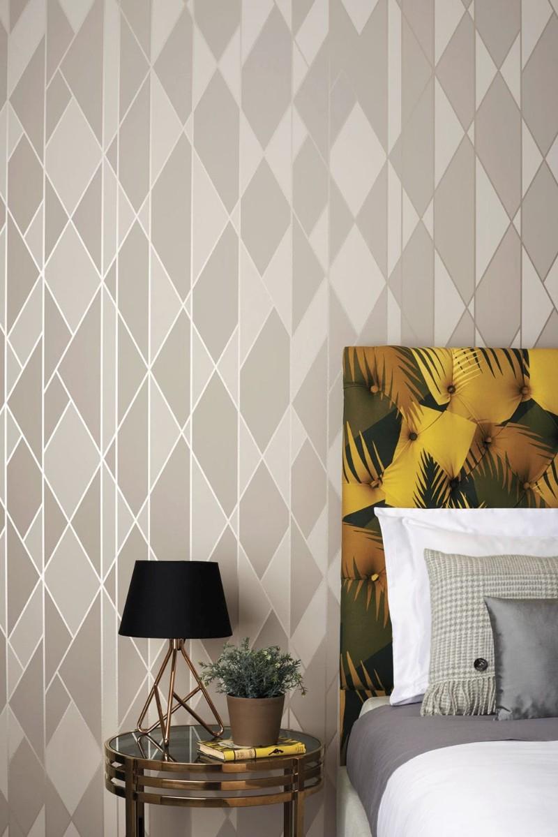design wallpaper Design Wallpaper Ideas for Modern Master bedrooms Design Wallpaper Ideas for Modern Master bedrooms grey
