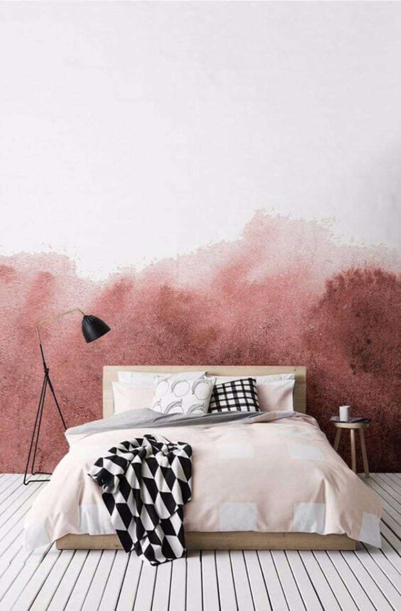 design wallpaper Design Wallpaper Ideas for Modern Master bedrooms Design Wallpaper Ideas for Modern Master bedrooms pink degrade