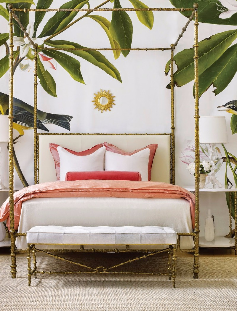 design wallpaper Design Wallpaper Ideas for Modern Master bedrooms Design Wallpaper Ideas for Modern Master bedrooms tropical and pink