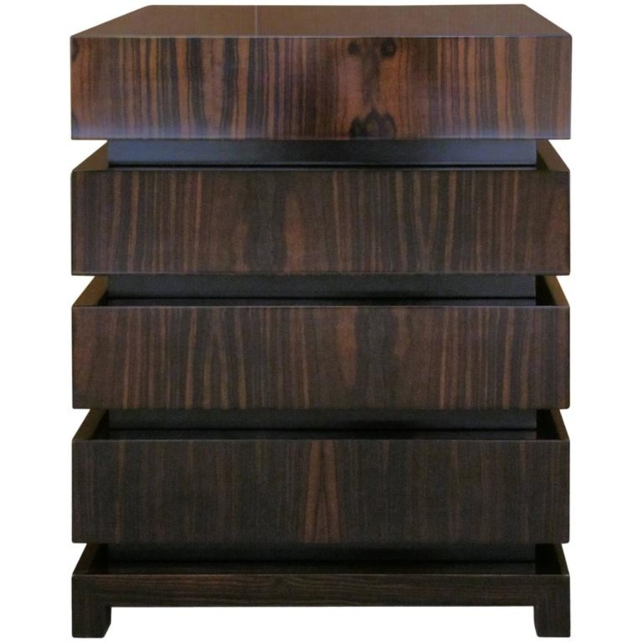 contemporary nightstand 25 Most Expensive Contemporary Nightstands Dom Edizioni Modern Italian Wood Makao Three or Four drawer Bedside Table 3136
