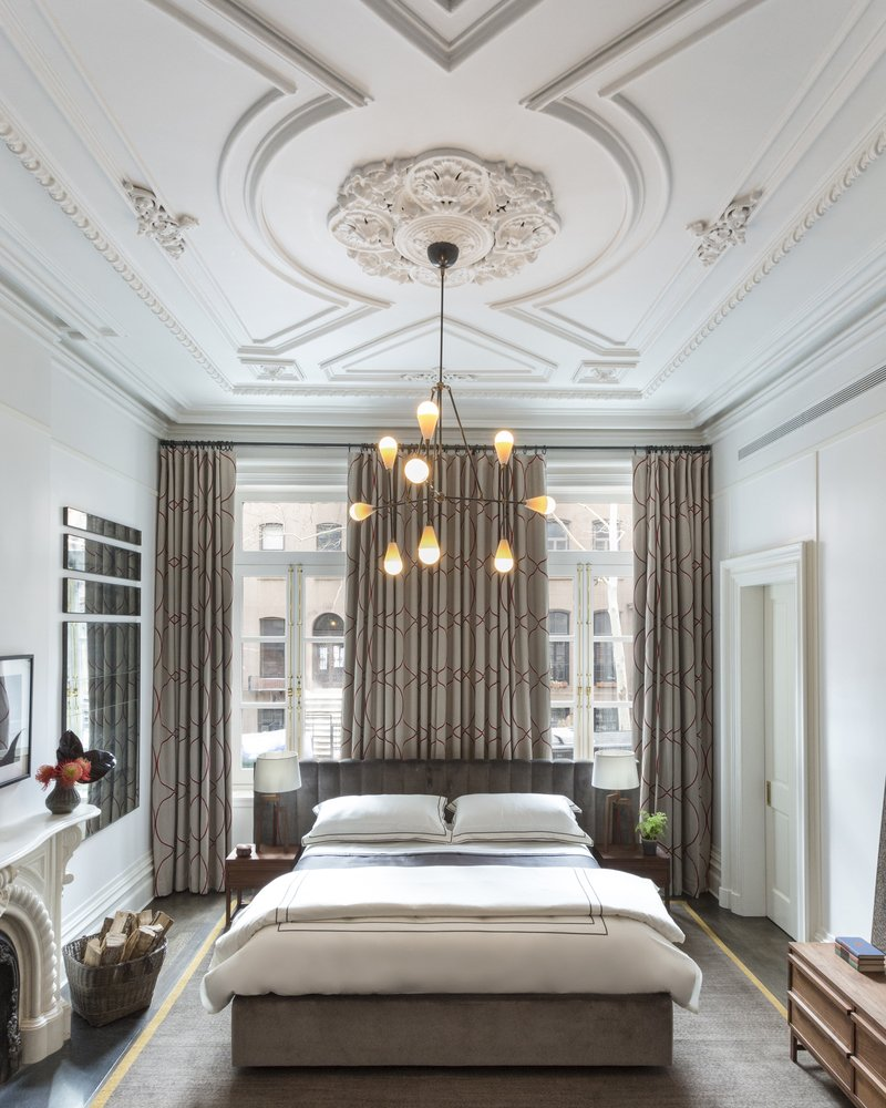 10 transitional style bedrooms by famous interior for Famous interior designers