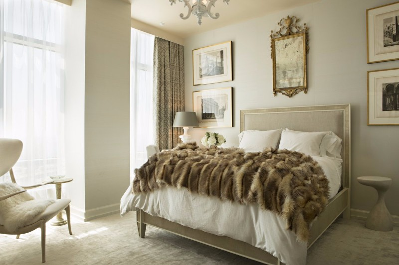 neutral bedroom 10 Smooth Neutral Bedrooms by Famous Interior Designers Luxury Bedroom design at the Ritz Carlton by Woodson and Rummerfield