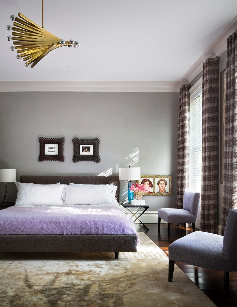 modern room 10 Modern Rooms by Famous Interior Designers Modern upper east side bedroom by dineen architecture