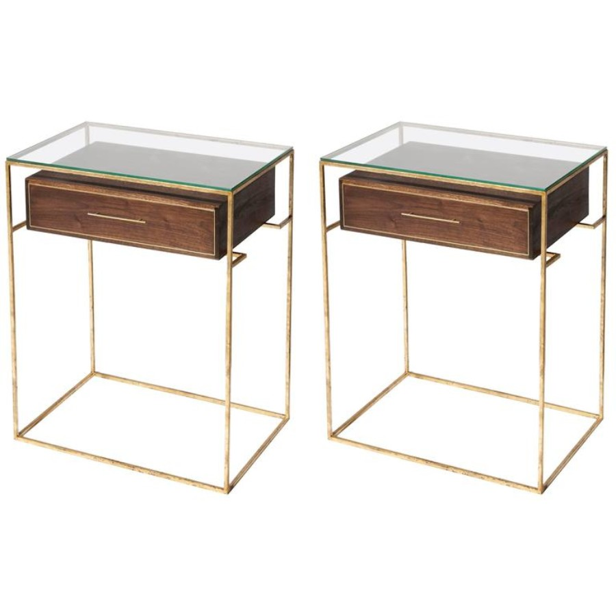 contemporary nightstand 25 Most Expensive Contemporary Nightstands Pair of Floating Drawer Side Tables Bedside Tables    2