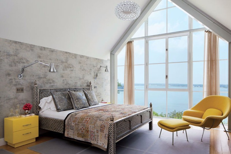 modern room 10 Modern Rooms by Famous Interior Designers Shelter haven home Michael Haverland Architect master bedroom design ideas