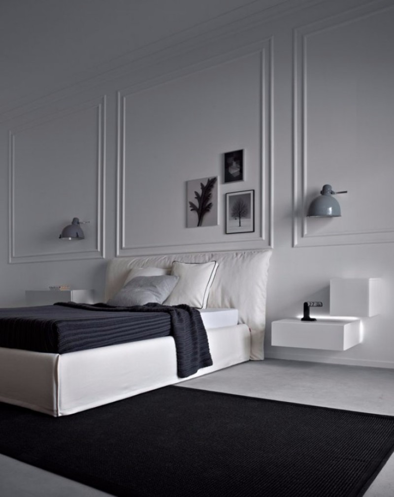 modern master bedroom ideas inspiration interior design floor design 10 Exciting Ideas for Master Bedroom Floor Design black grey flooring design minimal style decor master bedroom ideas modern design