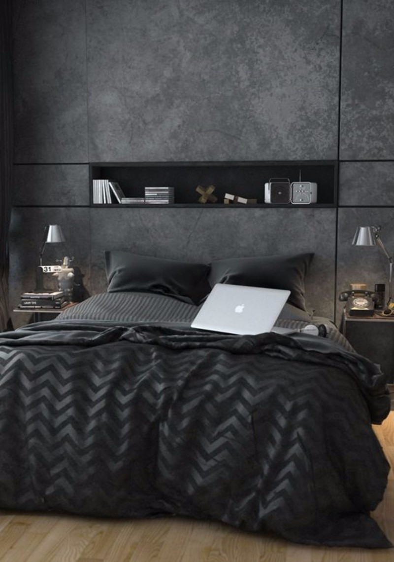 dark bedroom Elegance & Luxury with Dark Bedroom Designs dark master bedroom design ideas modern dream bedroom design inspiration