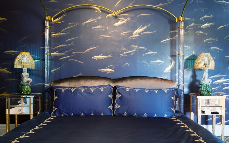 bedroom design Bedroom Designs by Top Interior Designers: Sasha Bikoff gorgeous bedroom ocean blue master bedroom design ideas modern bedroom decor 2