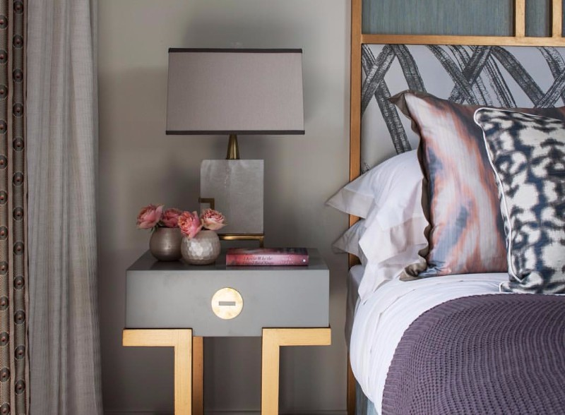 modern nightstand Top 15 Modern Nightstands Found on Pinterest gorgeous grey nightstand design for the modern master bedroom