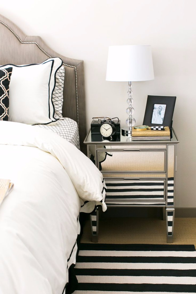 modern nightstand Top 15 Modern Nightstands Found on Pinterest gorgeous mirrored nightstand for modern master bedroom decor