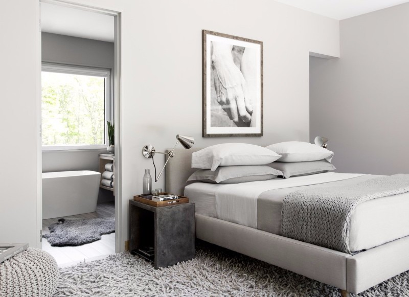 modern room 10 Modern Rooms by Famous Interior Designers grey modern bedroom design by timothy godbold
