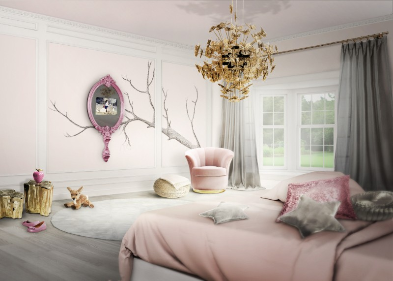 pink bedroom Subtlety and Charm with 10 Pink Bedroom Designs magical mirror circu 1