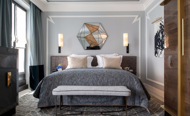 bedroom design Bedroom Designs by Top Interior Designers: Jean-Louis Deniot master bedroom design grey gold jean louis deniot