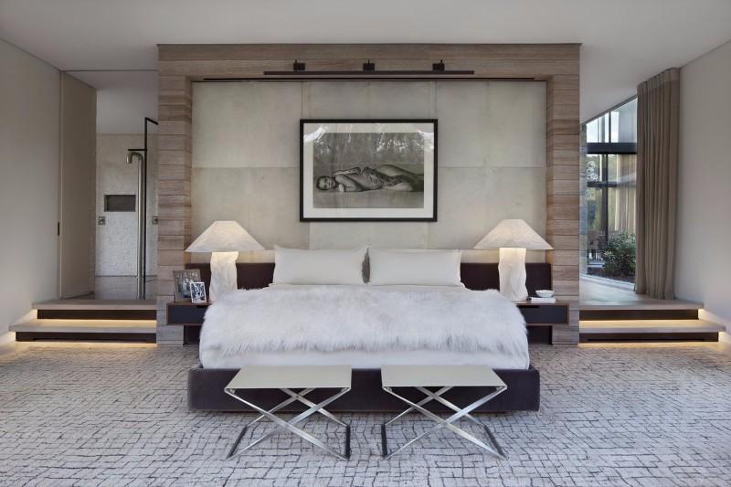 modern room 10 Modern Rooms by Famous Interior Designers modern bedroom design in grey by meyer davis