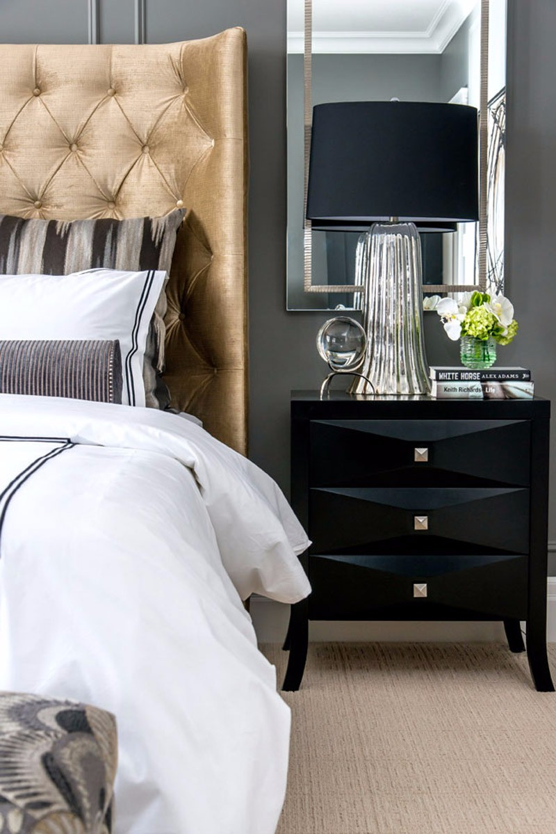 modern nightstand Top 15 Modern Nightstands Found on Pinterest sleek black nightstand design for modern master bedrooms