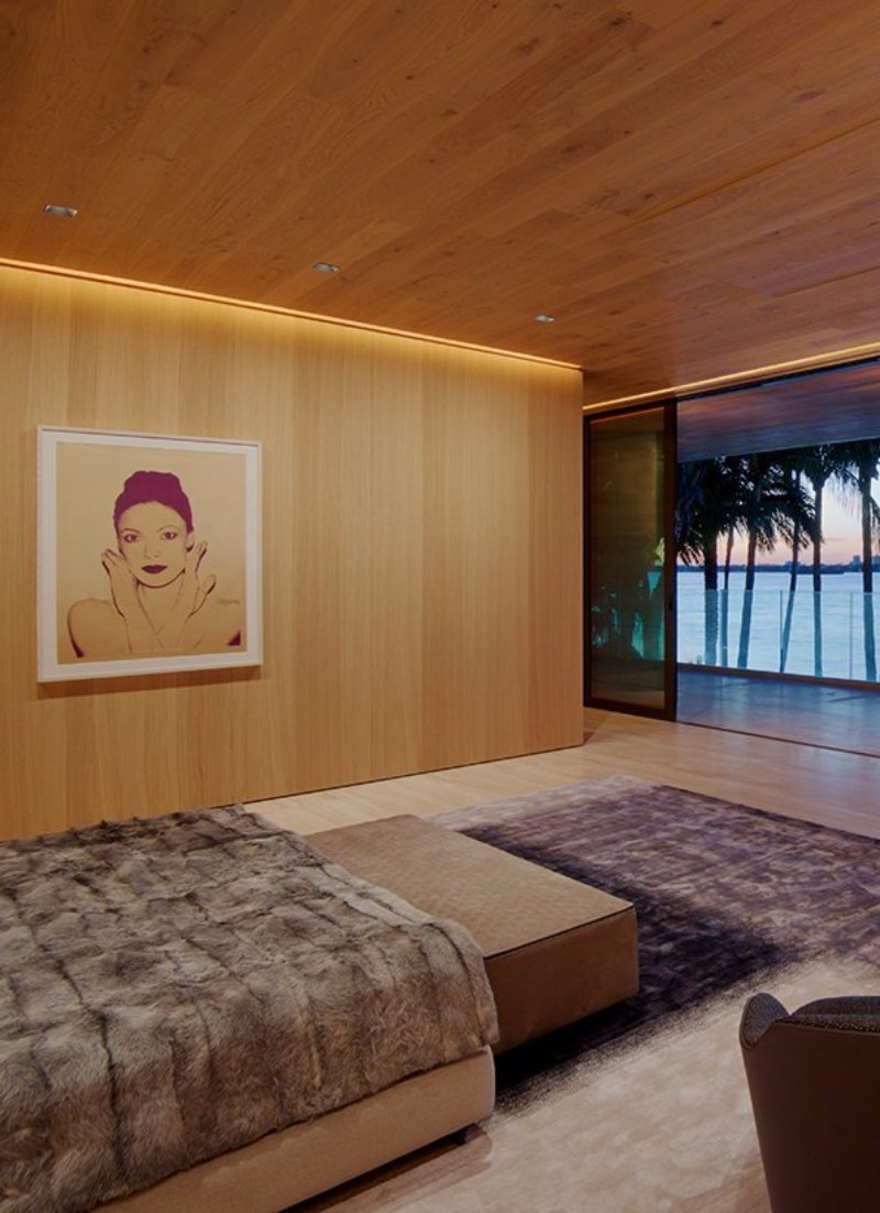 floor design 14 Charming Bedrooms with Wood Floor Design Bal Harbour Bedroom by Oppenhiem Architecture 00597822