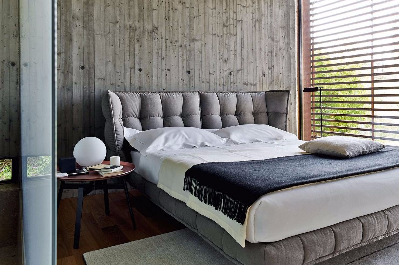 bb italia 12 Astonishing Bed Designs by BB Italia Husk Bed by BB Italia Contemporary black white grey master bedroom inspiration ideas modern bedroom design 2