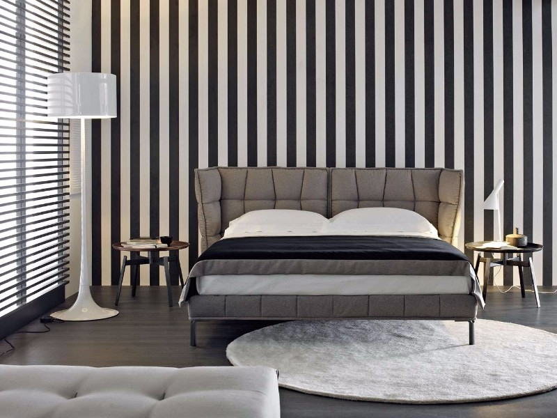 bb italia 12 Astonishing Bed Designs by BB Italia Husk Bed by BB Italia Contemporary black white grey master bedroom inspiration ideas modern bedroom design