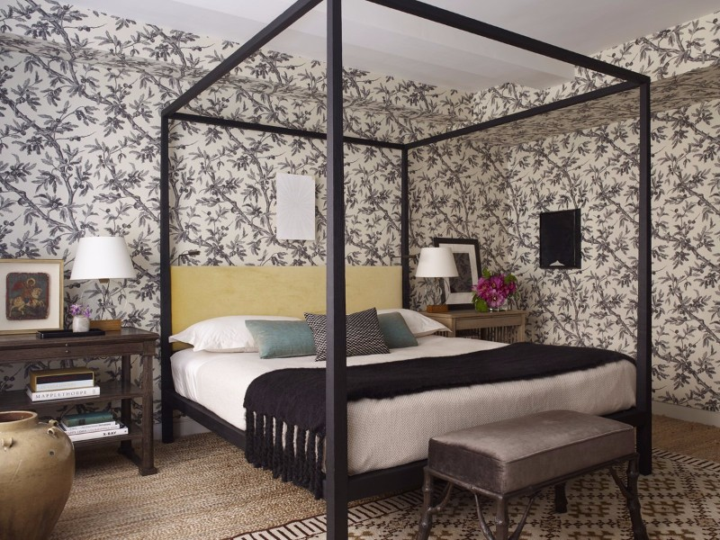 master bedroom 10 Master Bedroom trends for the Upcoming Winter 2017 Modern bedroom with gorgeous floral wallpaper by Neal Beckstedt