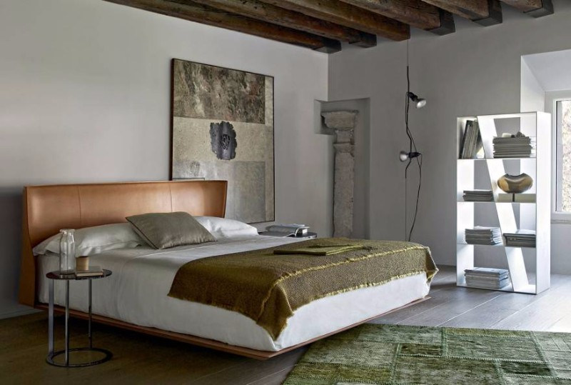 bb italia 12 Astonishing Bed Designs by BB Italia alys bed by bb italia modern bed design colorful headboard charming wall fixtures modern master bedroom