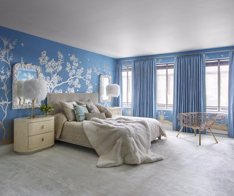 bedroom design Bedroom Designs by Top Interior Designers: Kelly Behun charming blue bedroom design with cream tones by kelly behun