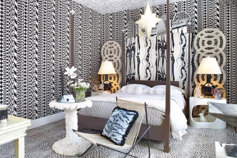 master bedroom 12 Sensational Eclectic Style Master Bedroom Designs eclectic style master bedroom by harry heissmann leopard floor beautiful wall patterns