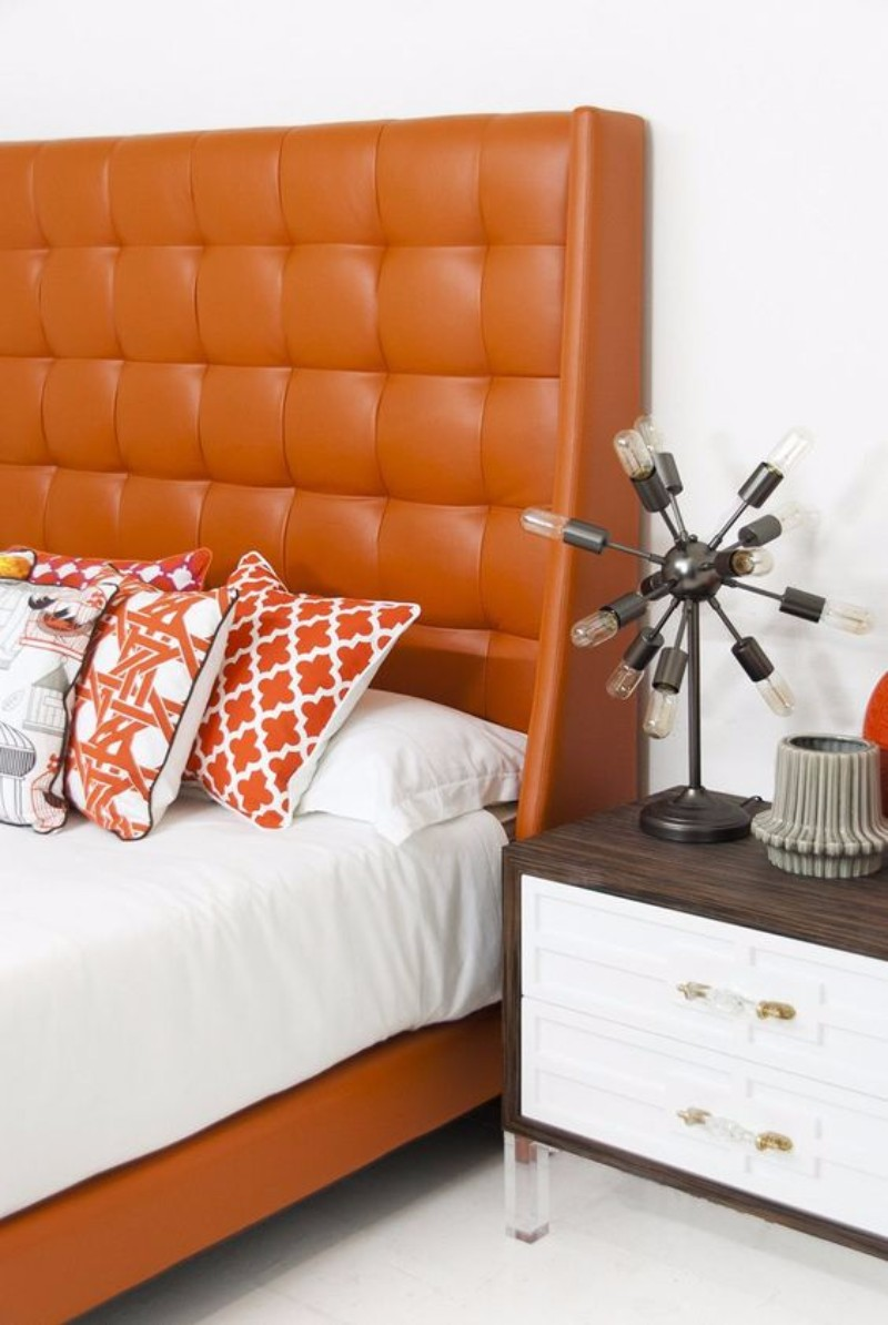 upholstered bed 10 Fabric Ideas For Modern Upholstered Beds faux leather headboard tufted upholstered bed design ideas