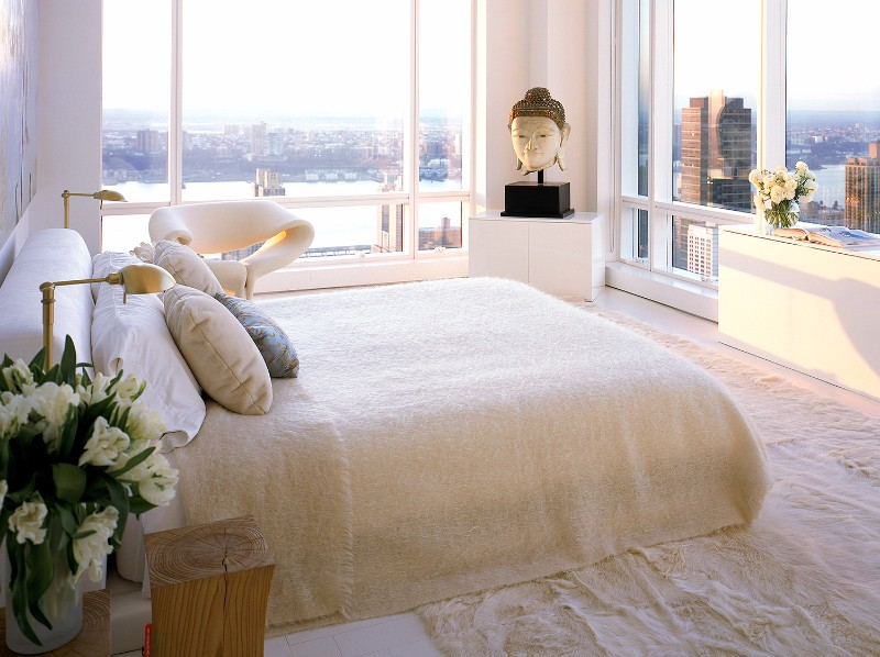 bedroom design Bedroom Designs by Top Interior Designers: Kelly Behun gorgeous cream bedroom design with charming view over central park