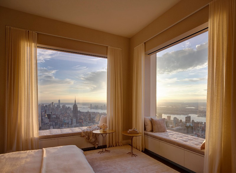 bedroom design Bedroom Designs by Top Interior Designers: Kelly Behun gorgeous view on this creamy master bedroom in midtown manhattan by kelly behun