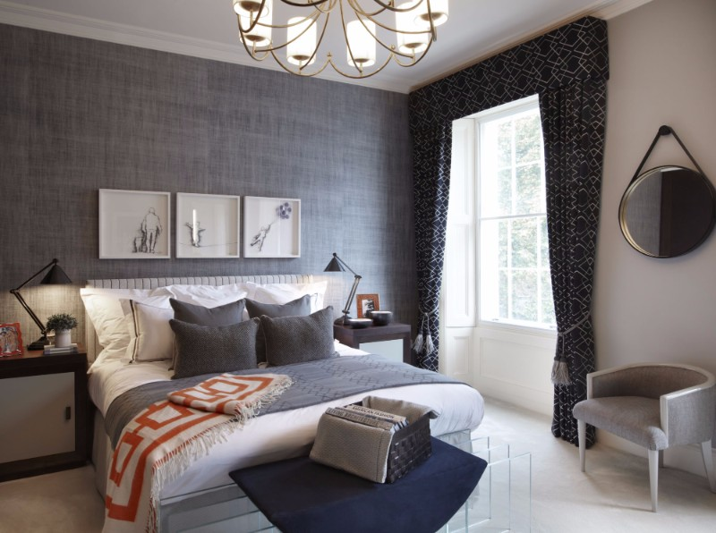 bedroom design Bedroom Designs By Top Interior Designers: Helen Green grand apartment belgravia modern master bedroom design in contemporary style helen green