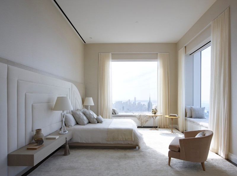 bedroom design Bedroom Designs by Top Interior Designers: Kelly Behun mid town penthouse design by kelly behun neutral tones 2