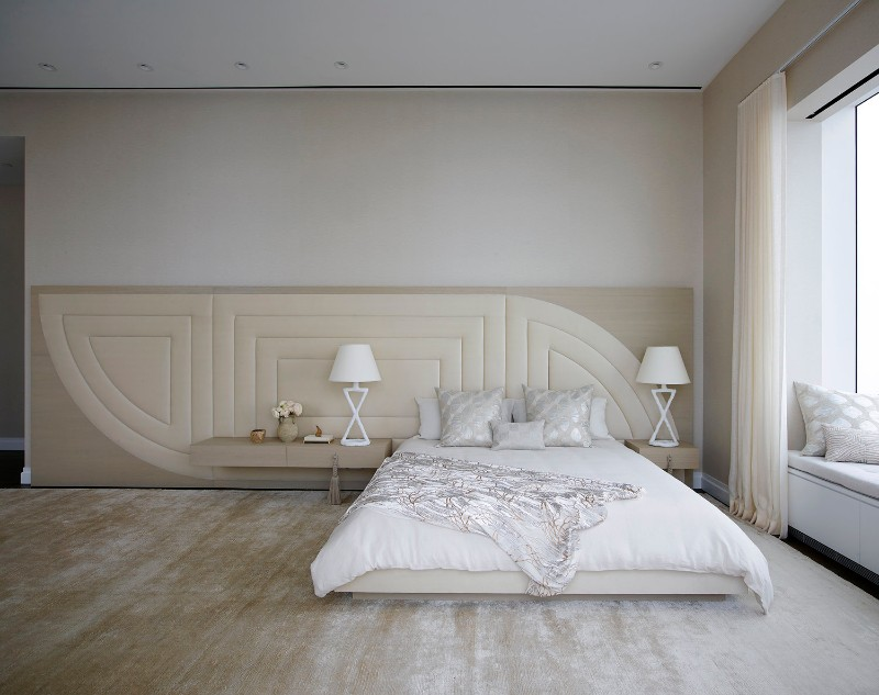 bedroom design Bedroom Designs by Top Interior Designers: Kelly Behun mid town penthouse design by kelly behun neutral tones