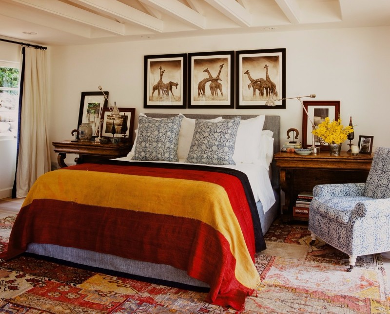 bedroom inspiration Colorful Bedroom Inspiration by Famous Interior Designers Colorful bedroom design in Cortazzo Ranch by Martyn Lawrence Bullard