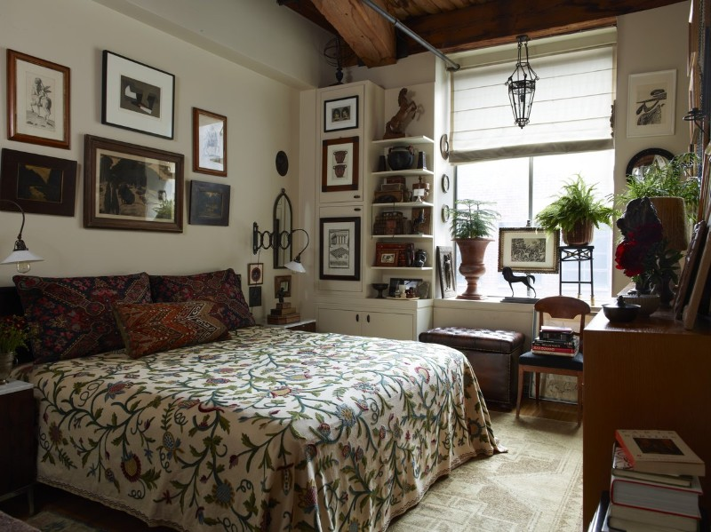 brown bedroom 10 Cozy Brown Bedroom Ideas For Fall 2017 Eclectic Bedroom with colonial elements by Alexandra Loew