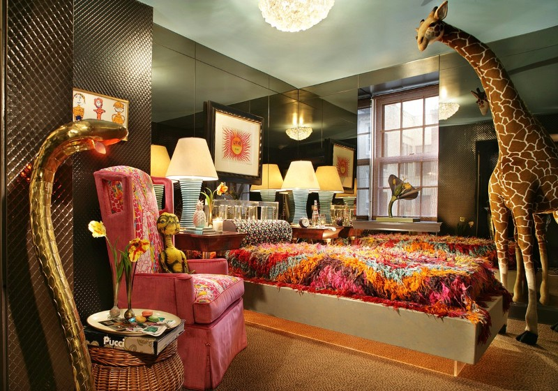 Bedroom Inspiration Colorful By Famous Interior Designers Eclectic New York Design Harry