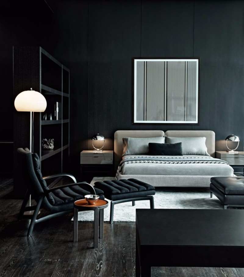 Black and White bedroom 10 Sharp Black and White Bedroom Designs black and white bedroom design with contemporary lines master bedroom ideas