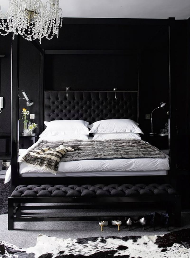 black bedroom Mystery & Charm with 10 Black Bedrooms black bedroom design bedroom inspiration ideas master bedroom design