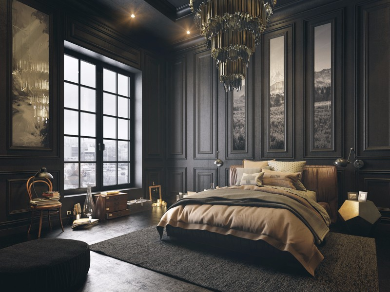 black bedroom Mystery & Charm with 10 Black Bedrooms black bedroom design ideas art decor modern bedroom design master bedroom decor