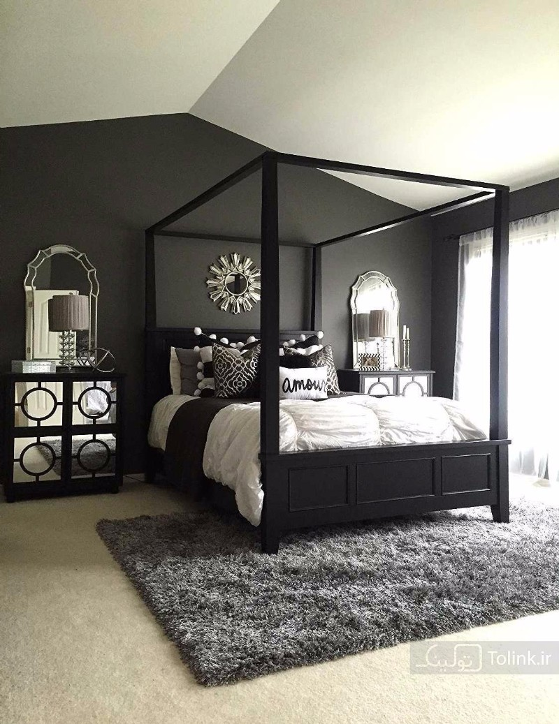 mirror in bedroom mirror in bedroom 10 Ideas for Placing a Mirror in Bedroom black bedroom inspiration ideas modern bedroom design master bedroom black and white