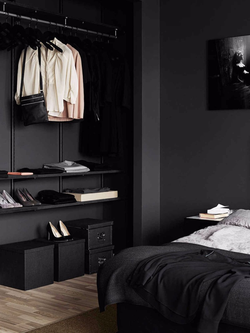black bedroom Mystery & Charm with 10 Black Bedrooms black bedroom inspiration ideas modern bedroom design master bedroom ideas