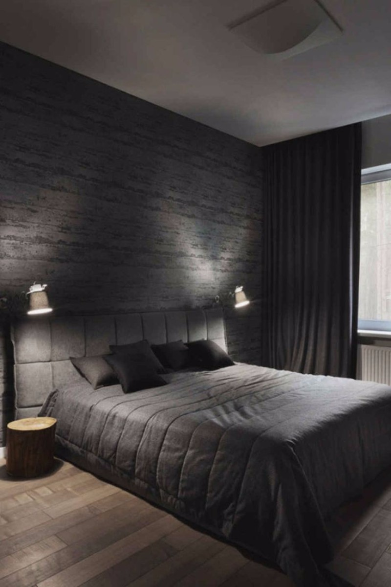 black bedroom Mystery & Charm with 10 Black Bedrooms black master bedroom inspiration ideas black and grey bedroom design