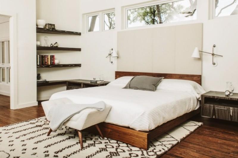 mid-century modern mid-century modern 10 Master Bedrooms in Mid-Century Modern Style charming white wooden master bedroom design mid century modern style
